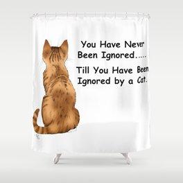 Cat Ignoring You Shower Curtain