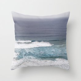 Surfers Paradise Wild West Coast Of Portugal Throw Pillow