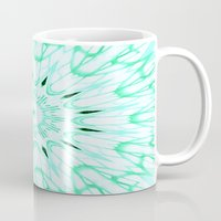 mint Mugs featuring Mint Mandala Explosion by SimplyChic