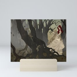 Through the Black Wood Mini Art Print