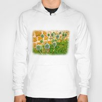 globe Hoodies featuring Globe thistles by Pirmin Nohr
