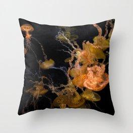Sea Nettles Throw Pillow