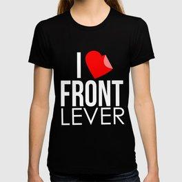 Front Lever Calisthenics Gymnastics Standing Gross Motor Movements Running Gift T-shirt