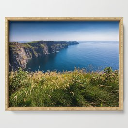 Sunny Cliffs of Moher, Ireland Serving Tray