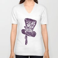alice in wonderland V-neck T-shirts featuring Alice in Wonderland by Drew Wallace