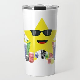 lucky star with poker chips Travel Mug