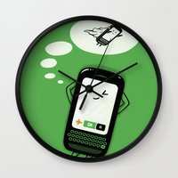 depeche mode Wall Clocks featuring Flight Mode by Lucas Scialabba :: Palitosci