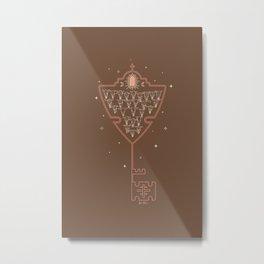 Key to Tejas - camel & peach Metal Print
