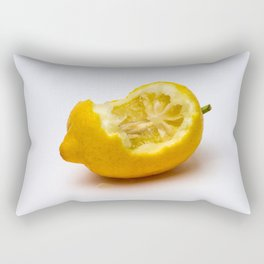Keep smiling. Half eaten lemon Rectangular Pillow