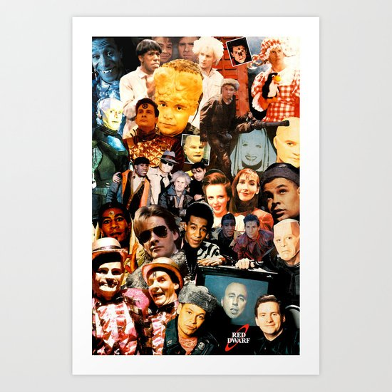 Red Dwarf Fan Collage Art Print