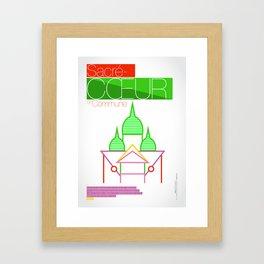 SACRÉ-CŒUR Framed Art Print