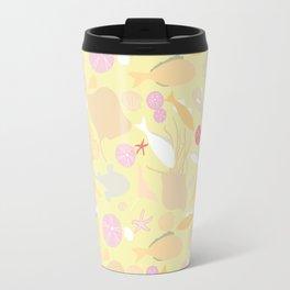 underwater life - pink/yellow Travel Mug