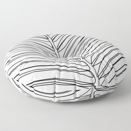 """""""Botanical Collection"""" - Palm Tree Leaf Floor Pillow"""