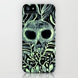 skull in leaves iPhone Case