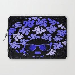 Afro Diva : Indigo Blue Periwinkle Laptop Sleeve