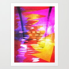 retro. Art Print