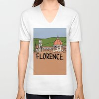 florence V-neck T-shirts featuring Florence by Logan_J