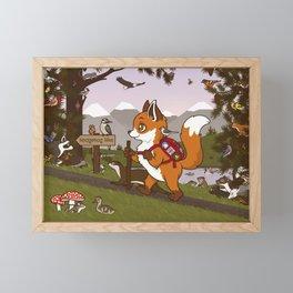 Foxy Trail Framed Mini Art Print
