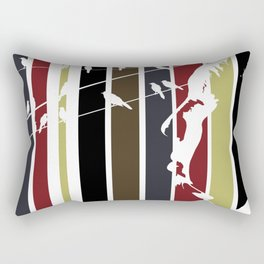 Alfred Hitchcock Retro Homage Rectangular Pillow