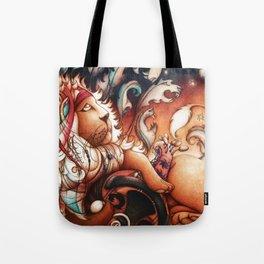 Hippy Lion Tote Bag