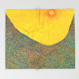 Here Comes the Sun - Van Gogh impressionist abstract Throw Blanket