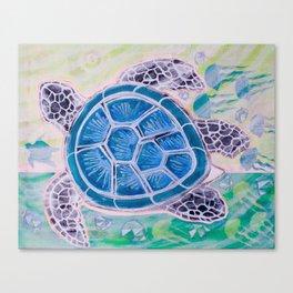 Sea Turtle Geodes Canvas Print