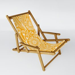 Saffron Coneflowers Sling Chair