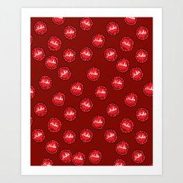 nuka cola caps Art Print