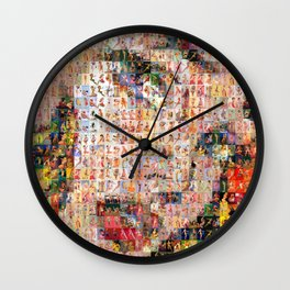 Roy's PinUps (h) - pop art Wall Clock