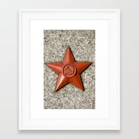 soviet Framed Art Prints featuring Soviet star by Cozmic Photos