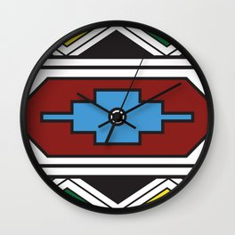 Ndebele Print Wall Clock