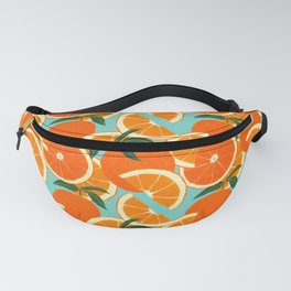 Orange Harvest - Blue Fanny Pack