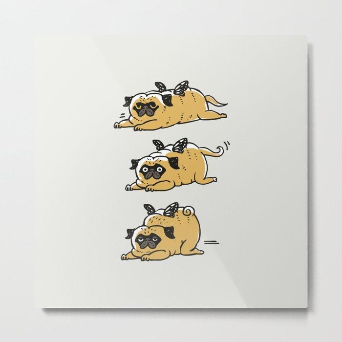 Puggerpillar Metal Print