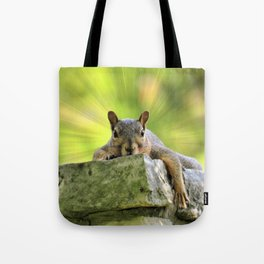 Relaxed Squirrel Tote Bag