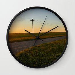 Hauge Cemetery Sunset Wall Clock
