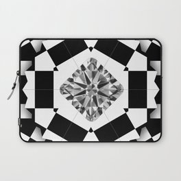 Carre Diamond in Black&White Box Laptop Sleeve