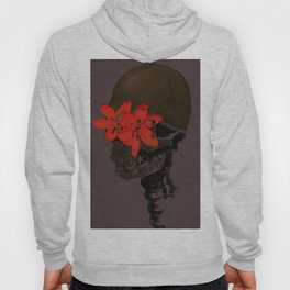 Skull with Flower Eyes Dark Hoody