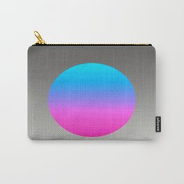 Turquoise Hot Pink Focal Point Carry-All Pouch