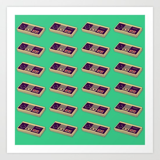 Classic Video Game Controller  |  NES Art Print