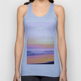 Pink Sunset Beach Unisex Tank Top