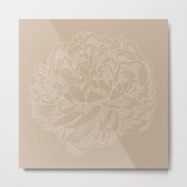 layer upon layer beige Metal Print