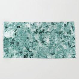 Mint Green Crystal Marble Beach Towel