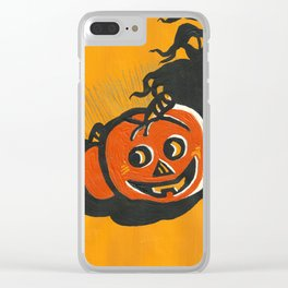 Halloween Grin Clear iPhone Case
