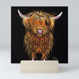 HiGHLaND CoW PRiNT SCoTTiSH ' HuMPHReY ' BY SHiRLeY MacARTHuR Mini Art Print