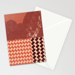 Abstraction in terracotta and maroon  Stationery Cards