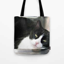 Cat in the sink Tote Bag
