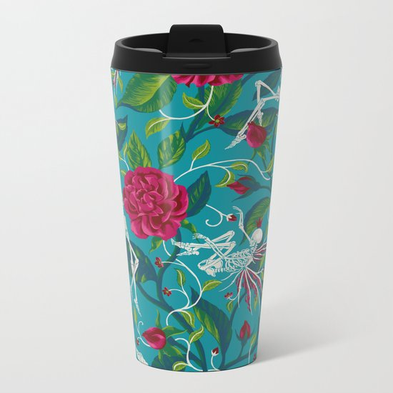 Death of Summer (carmine and blue) Metal Travel Mug