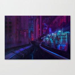 Tokyo Nights / Glitch City / Liam Wong Canvas Print