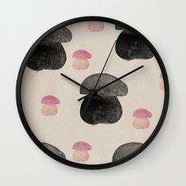 Black mushroom Wall Clock