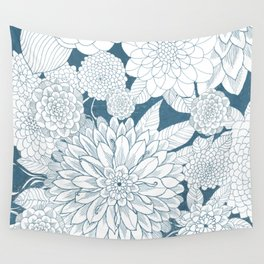 Blue Sketchbook Wall Tapestry